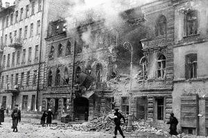 a-street-after-a-german-artillery-raid