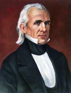 Portrait Print of President James K. Polk after a Daguerrotype by Matthew Brady